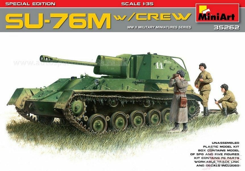 MINIART 35262 1 35 WWII Russian SU-76M with crew special edition NEW