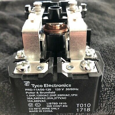 25 A 24 VAC PRD Series Non Latching DPDT Panel Power Relay