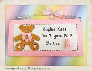 Baby girl birth sign personalised with name date of birth weight image is loading baby girl birth sign personalised with name date negle