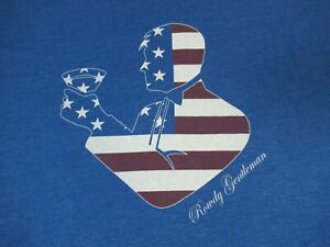 Nwot-Rowdy-Gentleman-Bandiera-Americana-Uomo-Martini-Vetro-Blu-2XL-T-Shirt-D223