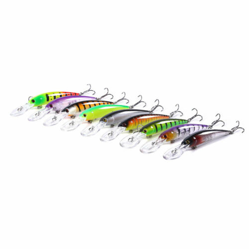 9pcs//set 12.5cm//11g Trolling Bait Minnow Fishing Lure Hook Bass Swimbait Wobbler