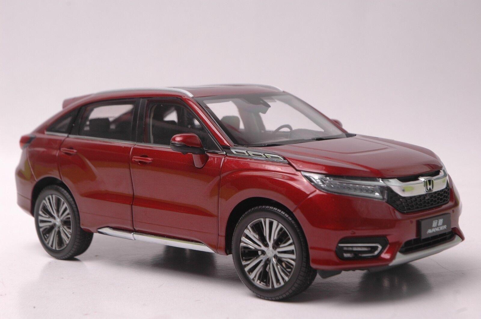 Honda Avancier 2016 car model in scale 1 18 red
