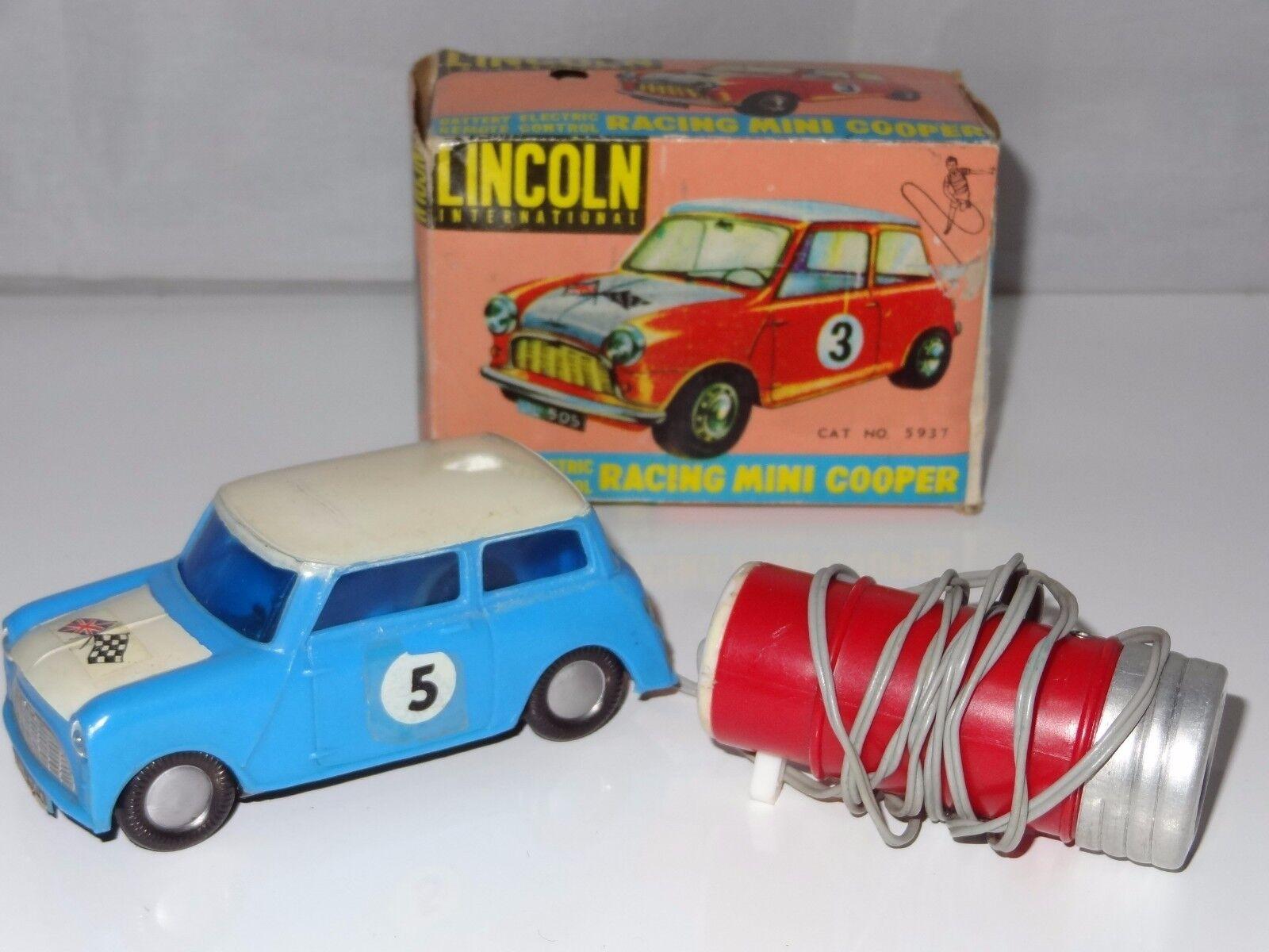 (V) Lincoln International Hong Kong Plastic MINI COOPER RALLY - remote