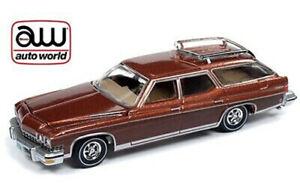 AUTO-WORLD-1-64-CINNAMON-POLY-WOOD-GRAIN-1974-BUICK-ESTATE-WAGON-VERSION-B