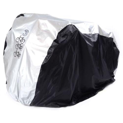Waterproof Bicycle Cover Bike Sun//Rain//Snow//Dust Proof UV Protector For 3 Bikes