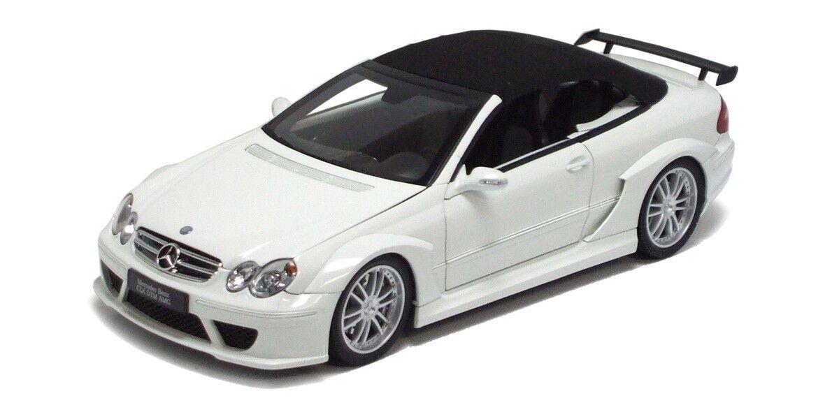 1/18 Kyosho Mercedes Benz CLK DTM AMG Street Cabriolet Diecast bianca 08462W