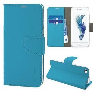Dettagli su HQ Lateral Flip Libro Cover Custodia Magnetica per Iphone 6-6s Plus Azzurro