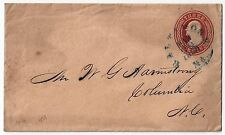 US 1856 BALTIMORE Md DATED MARCH 24 1856 IN BLUE UNFRAMED ON Sc U10 TO COLUMBIA