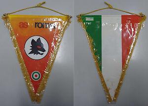 Collezionismo-Sport-Calcio-Vintage-039-80-Gagliardetto-Originale-Ufficiale-AS-ROMA