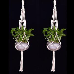 Tassel-Pot-Holder-Macrame-Plant-Hanger-Hanging-Planter-Basket-Jute-Braided-Rope