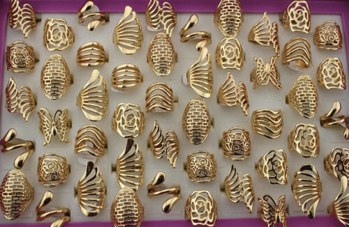Lots 10//20//50pcs Rhinestone Mix Design silver//gold Plated Band Joint Mid Rings