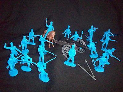 Classic Toy Soldiers CTS Alamo Mexican ladder assault set medium blue 1//32