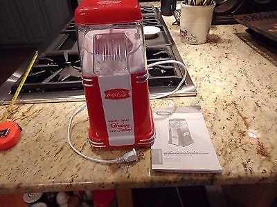New Nostalgia Electric Coca-Cola 8-Cup Hot Air Popcorn Maker Kitchen Appliance