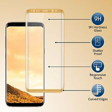Full 3D Curved Tempered Glass Screen Protector for Samsung Galaxy S8+ Plus Gold