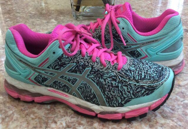 ac009aad2c Asics GEL-Kayano 22 Lite-Show Women's Pink Aqua-Splash Running Shoes Sz 9  T5A6N