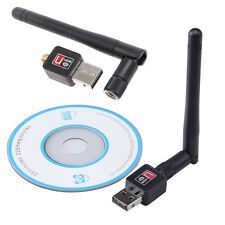 Mini 802.11N/G/B 150Mbps USB WiFi Wireless Adapter Network LAN Card w/Antenna