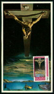 Simple Guyane Mk 1968 Pâques Easter Peintures Jésus-christ Maximum Carte Mc Cm H3663-afficher Le Titre D'origine