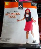 Girls Nip Halloween Costume Red Riding Hood Size 4/6 Cape Dress Red Black