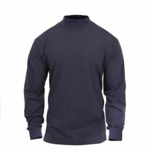Rothco Mock Turtleneck Military Army L//S Cotton Tactical Mens Shirt
