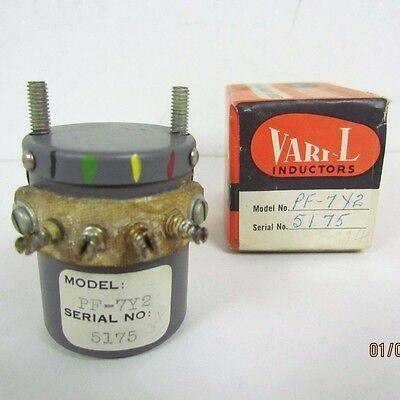 NOS NIB Vintage Vari-L PF-7Y2 Variable Inductor