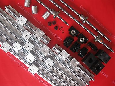 6 linear bearing Rails 3 ballscrews 1605 balls screws  BK12 BF12 +3 couplings