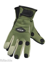 Ron Thompson Crosswater Neoprene Gloves Choose Size Olive Green Fishing Angling