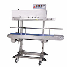 Entrepack Stainless Steel 2300v Vertical Continuous Band Sealer Ink Printer