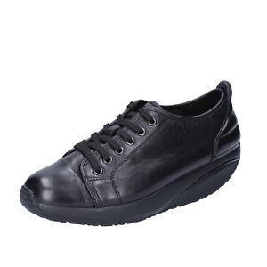 scarpe-donna-MBT-36-EU-sneakers-nero-pelle-performance-BT64-36