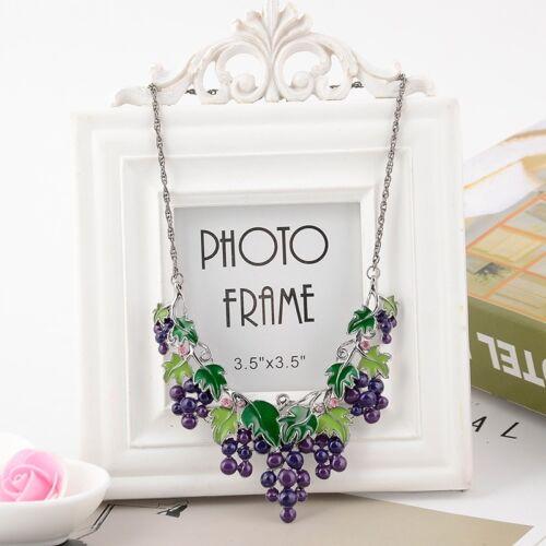 Fashion Jewelry Chaîne Pendentif Femme cristal Choker Bib Collier Set Boucles d/'oreilles