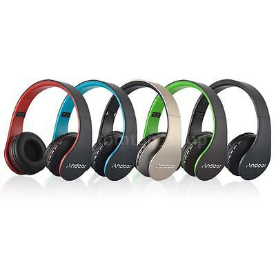 Andoer Bluetooth Wireless Stereo Headset Headphone with Mic MP3 SD TF FM US AK6C
