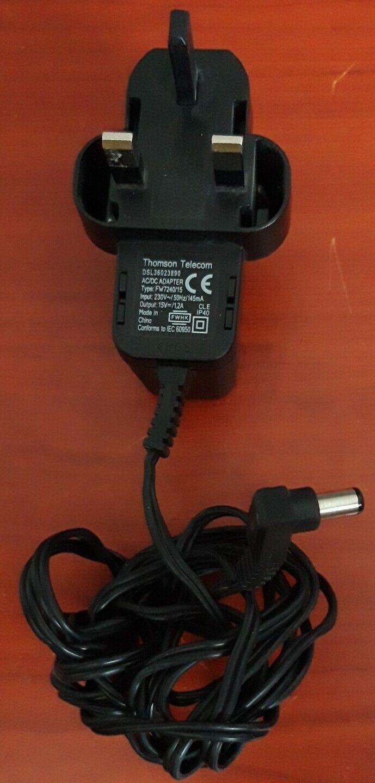 Thomson Telecom DSL36023890 15V 1.2A AC/DC Adapter