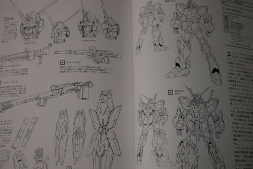 JAPAN Mobile Suit Gundam Unicorn RE:0096 Mechanic Complete Book