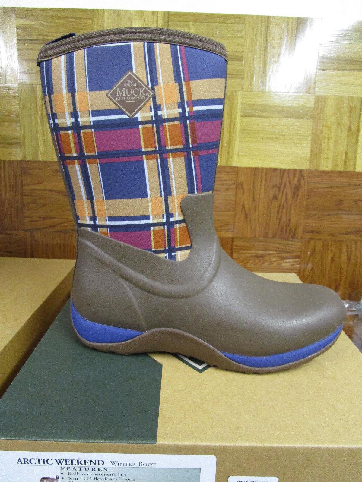 100% nuovo di zecca con qualità originale Muck stivali Donna  Arctic Weekend Winter Winter Winter stivali Marrone Navy Plaid Dimensione 11 M  servizio premuroso