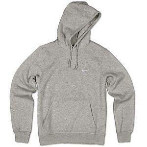 Capucha Suéter Detalles Gris Nike Polar Swoosh Xl Chaqueta Con De Sudadera Lq534jcAR