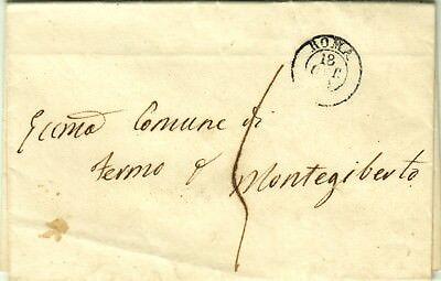 1576-stato Pontificio, Pref., Da Roma A Fermo Poi Monte Giberto, 1851