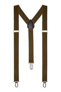 Clip-on Adjustable Unisex Mens Women Pants Fully Elastic Y-back Suspender Braces