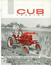 Ih Mccormick Farmall Cub Tractor With Fast Hitch Color Dealer Brochure Booklet