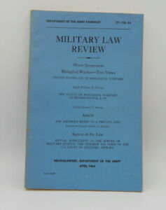 Vintage-Military-Law-Review-Department-of-The-Army-April-1964-Pamphlet
