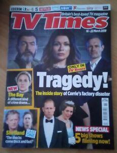TV Times - 16-22 March 2019 - England Edition - Coronation Street | eBay