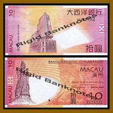 Macao 10 Patacas, 2010 P-80 BNU Unc