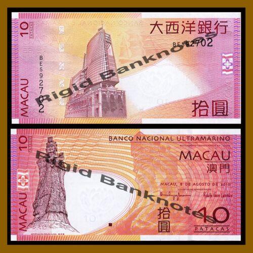 Macau 2010 P-80 BNU Unc Macao 10 Patacas