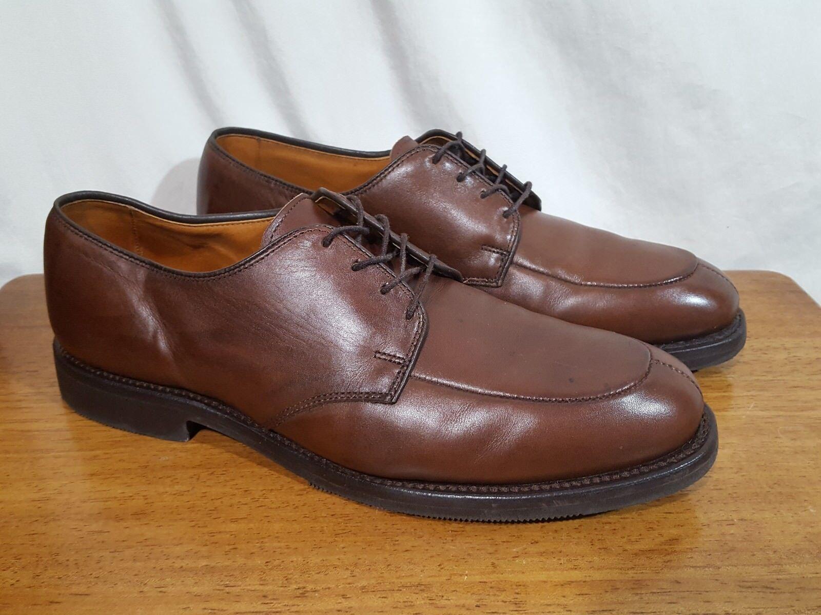 Men's Allen Edmonds Kennett Brown Leather Split Toe Oxford Dress shoes - 8.5 D