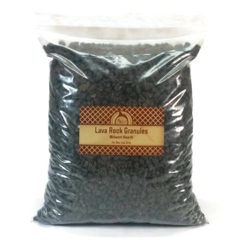 Midwest Hearth Natural Lava Rock Granules for Gas Log Sets and Fireplaces 5-lb