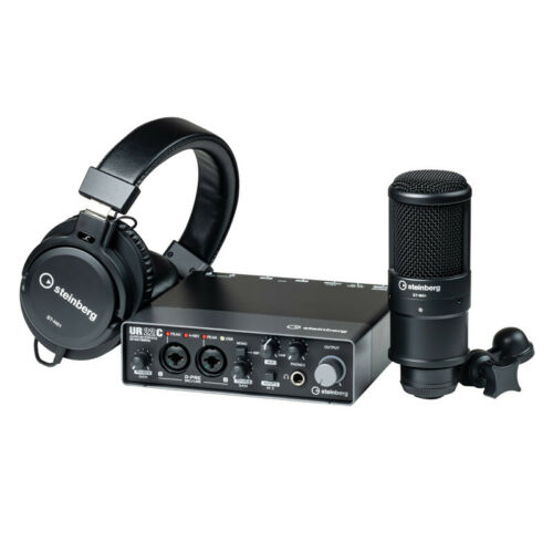 NEW Steinberg UR22C Recording Pack Inc Microphone /& Headphones
