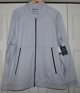 MSX-Michael-Strahan-Active-Jacket-Men-size-XXL-2XL-Performance-Fleece-Gray-Zip