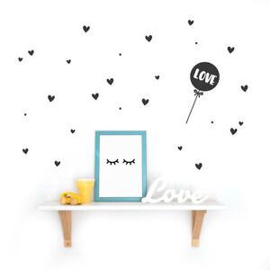 Luftballon Love Wandsticker Sticker Kinderzimmer Wandtattoo
