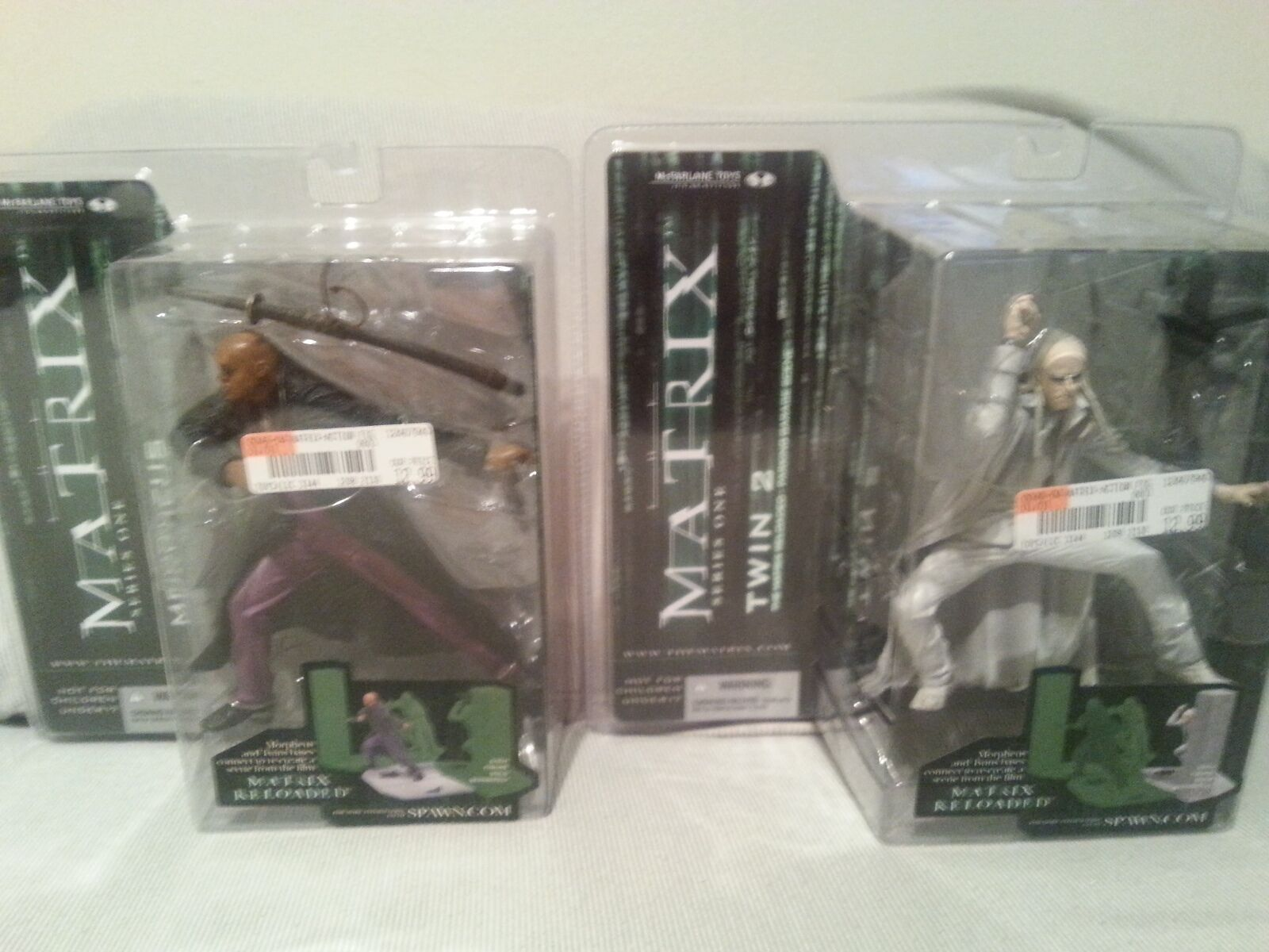 Matrix Reloaded McFarlane McFarlane McFarlane Series 1 Twin 2 and Morpheus Figures 869138