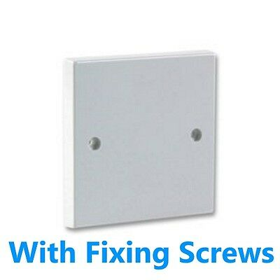 Electrical Switch Socket Blanking Plate Covers 1 Gang Single or 2 Gang Double