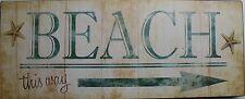 Iron Tin Metal Sign Home Kitchen Beach This Way Deck Pool Decor wall art 88762