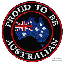 PROUD TO BE AUSTRALIAN embroidered iron-on PATCH AUSTRALIA FLAG applique